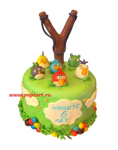 Тортик «Злобные птички»