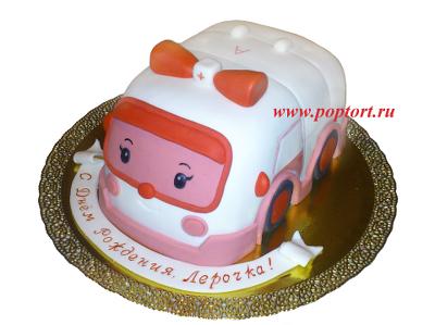 Тортик «Робокар Полли - Эмбер»